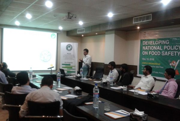 """Seminar on """"Developing National Policy on Food Safety"""" at Riphah Institute of Public Policy Islamabad"""
