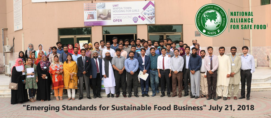 "One Day training Session on ""Emerging Standards for Sustainable Food Business"" HACCP-VACCP-TACCP in Lahore"