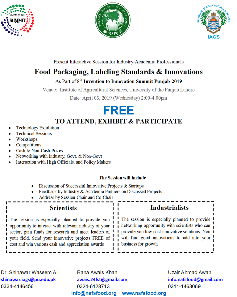 Food Packaging, Labeling Standards & Innovations